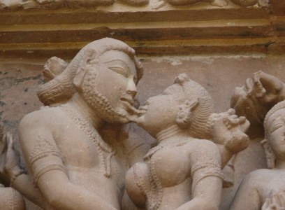 how to kiss - People in India have long practiced the romantic kiss. This depiction, at the Lakshmana Temple, in Khajuraho, India, dates to about A.D. 950.