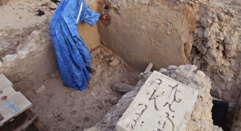 Cultural heritage - In 2012, Islamic extremists severely damaged nine historic mausoleums in Timbuktu, Mali. Local masons, like the man shown here, rallied to rebuild them before they were further degraded by exposure to the elements.