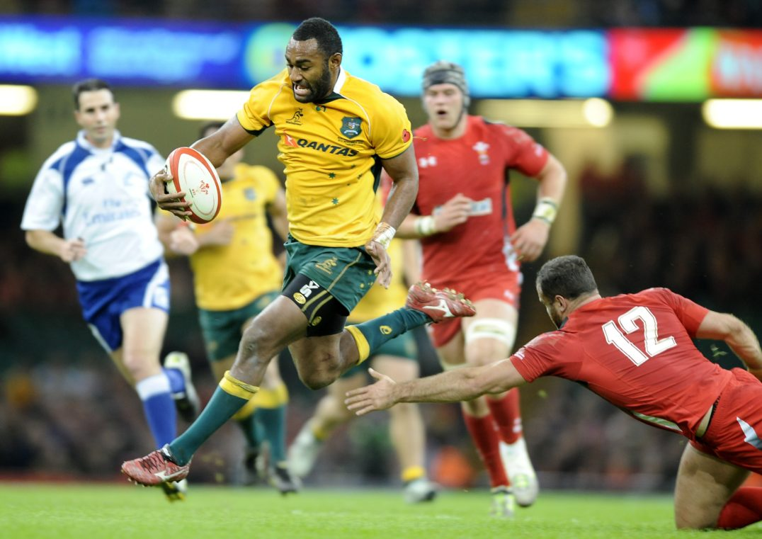 Brawn Drain - Tevita Kuridrani, originally from Fiji, currently plays for both Australia's Brumbies in Super Rugby and Australia's international team, which qualified for the 2016 Olympics.