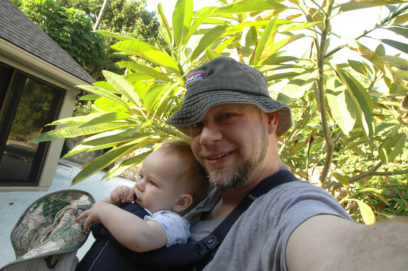 Babywearing culture - Selfie technology has made it easier for parents to share their babywearing experiences.