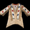 "The Many Hands shirt was created around 1910 by Bessie Black Horn to commemorate the ""multiple handshakes"" that Chief Daniel Black Horn had with European dignitaries."