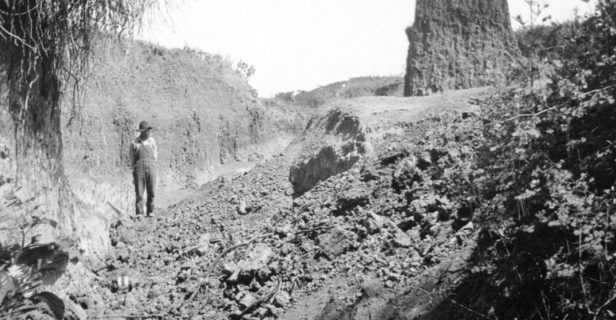 Folsom point - A flash flood in 1908 exposed this profoundly important archaeological site near Folsom, New Mexico.