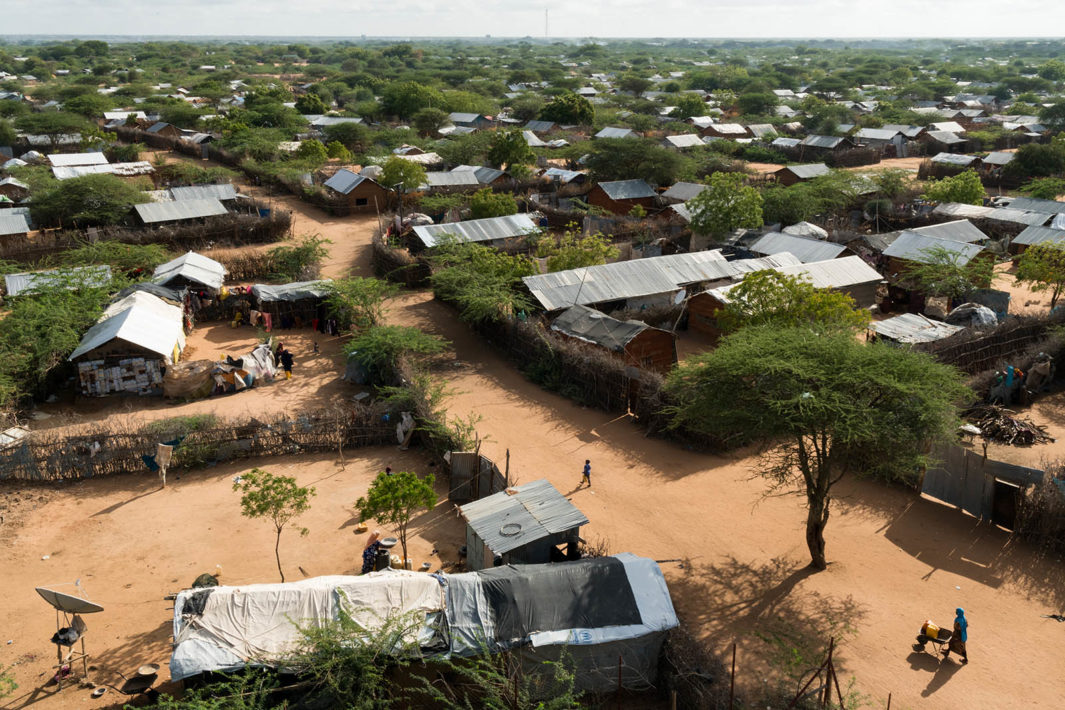 As of 2017, neighborhoods extend as far as the eye can see in Dagahaley, Dadaab refugee complex, Kenya.
