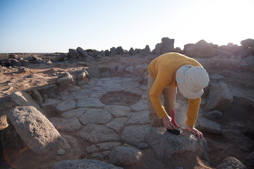 A team from the University of Copenhagen excavates the Natufian site Shubayqa 1, where researchers unearthed the world's most ancient bread crumbs.