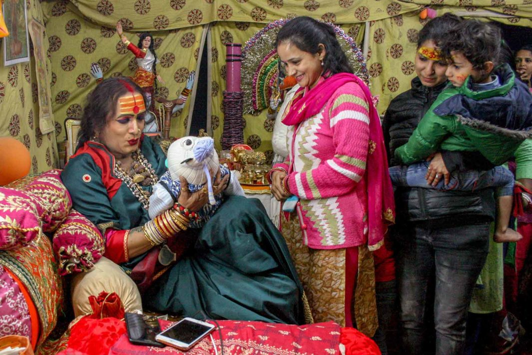 Many people ask hijras to grant their newborn babies good health, since hijras are believed to have a god-given ability to bestow blessings.