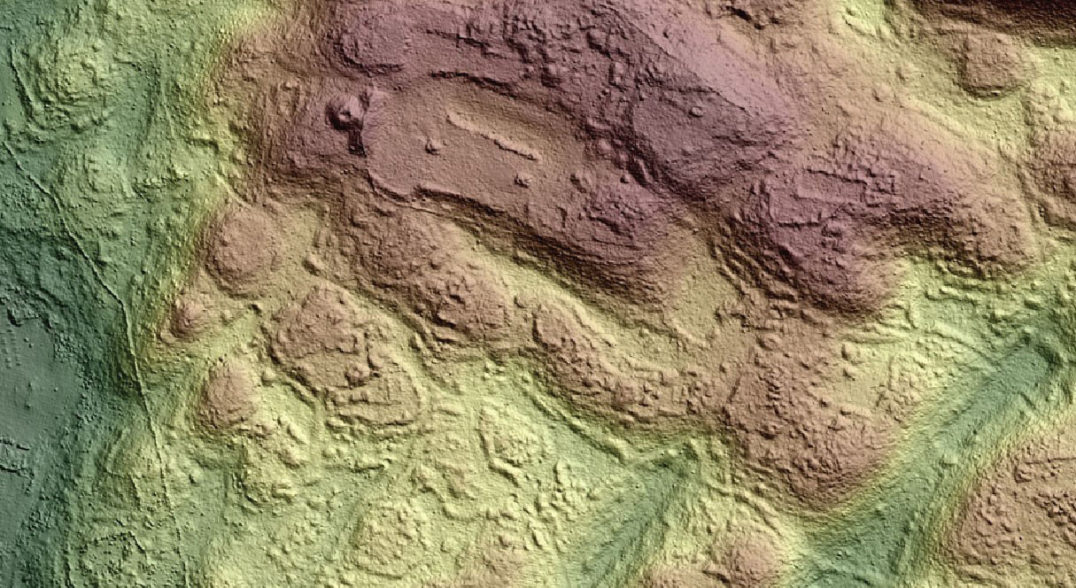 A lidar scan of a site in Mexico reveals the boundaries of a ceremonial area.