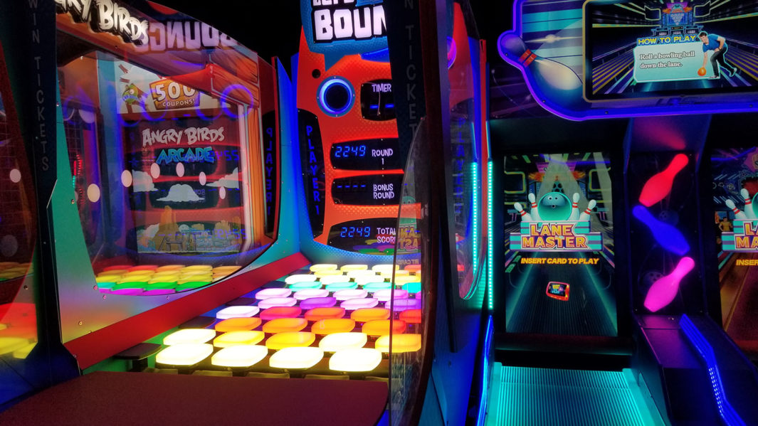 Dave and Buster's, a restaurant and video arcade, buzzes with activity and noise.