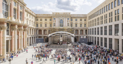 museum restitution - Berlin's Humboldt Forum opened its doors to the public for a special event in 2019, even as construction on the building continued.