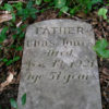 African-American cemeteries destruction - A gravestone in the Morningstar Tabernacle No. 88 Cemetery in Cabin John, Maryland.