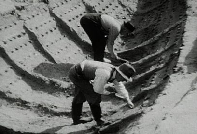 story Sutton Hoo - The original 1939 excavation, shown here, was the subject of the movie The Dig.