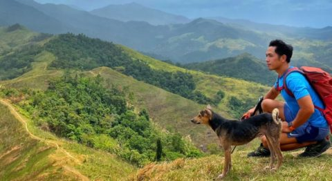 dog breeds race - The author enjoys the company of a village dog named Blacky while hiking in the Sierra Madre mountains of Bulacan Province in the Philippines.