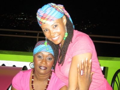 Bele Martinique - Anthropologist Camee Maddox-Wingfield (right) with her first dance teacher, Linda Sainte Rose.